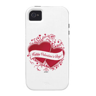 Happy Valentine s Day Red Hearts Vibe iPhone 4 Cover