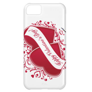 Happy Valentine s Day Red Hearts iPhone 5C Covers