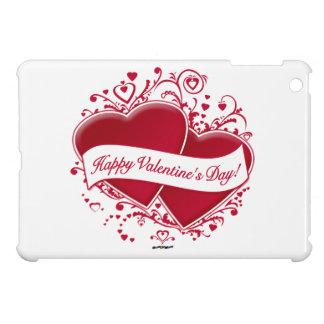 Happy Valentine s Day Red Hearts iPad Mini Cover