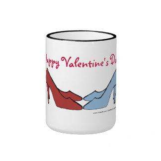Happy Valentine s Day Shoes Coffee Mug