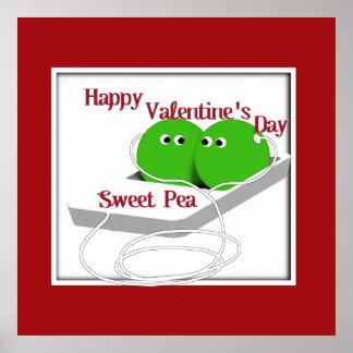 Happy Valentine s Day Sweet Pea Posters