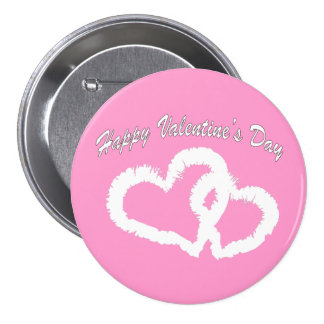 Happy Valentine s Day White Kissing Hearts Pin