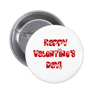 Happy Valentine s Day with Hearts Pinback Buttons