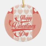 happy valentines adorno de navidad