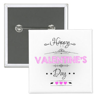 Happy Valentine's Day! 15 Cm Square Badge
