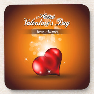 Happy Valentine's Day 4 Coaster