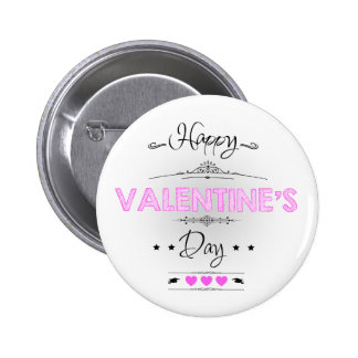 Happy Valentine's Day! 6 Cm Round Badge