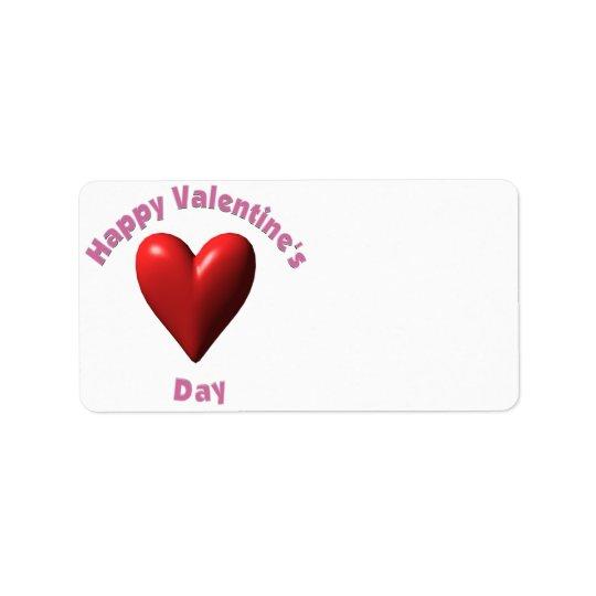 Happy Valentines Day Address Label
