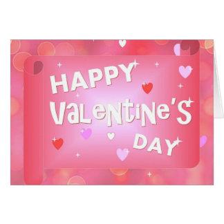 Happy Valentine's day background Card