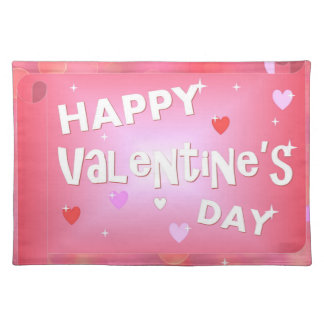 Happy Valentine's day background Placemat