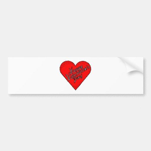 Happy Valentine'S Day Bumper Sticker