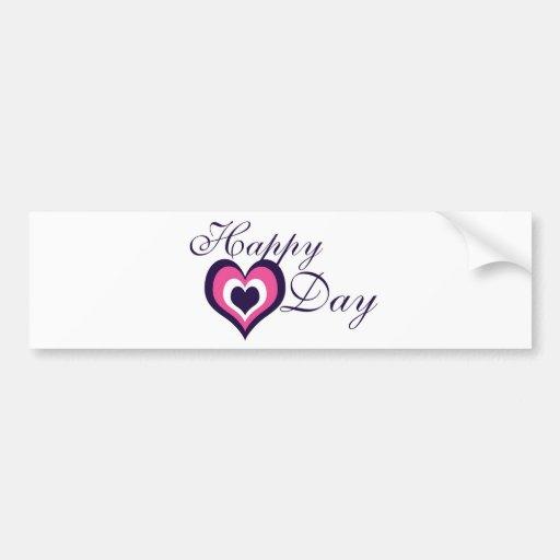 Happy Valentine's Day Bumper Stickers