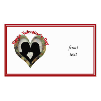Happy Valentine's Day Business Card Template