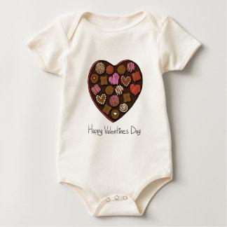 Happy Valentine's Day Candy Heart Baby Bodysuit