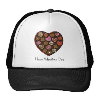 Happy Valentine's Day Candy Heart Hats