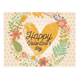 Happy Valentine's Day Card in Bright Colors