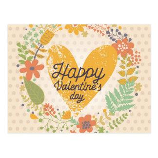 Happy Valentine's Day Card in Bright Colors Postcard