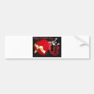Happy Valentine's Day Chihuahua Bumper Sticker
