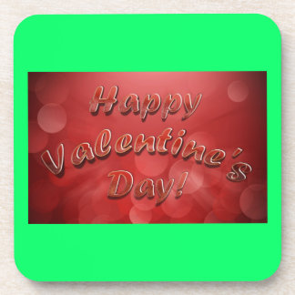 Happy Valentine's Day Cork Coaster