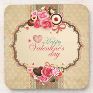 Happy Valentine's Day Drink Coasters