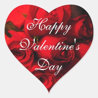 """""""Happy Valentine's Day"""" Crimson Bouquet Sticker"""