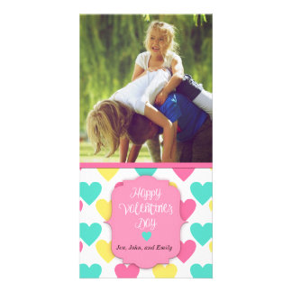 Happy Valentine's Day Custom Card with Picture Picture Card