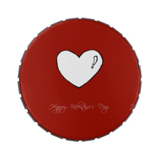 Happy Valentine's Day Cute Heart Candy Tin