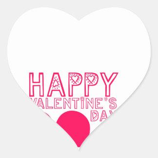 Happy Valentine's day Cute Heart Sticker