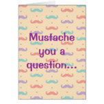 Happy Valentine's Day Cute Moustache Moustache Greeting Card