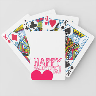 Happy Valentine's day Cute Playing Cards