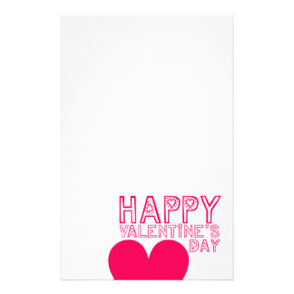 Happy Valentine's day Cute typography Stationery Paper