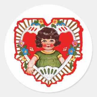 Happy Valentine's Day Cutie! Classic Round Sticker