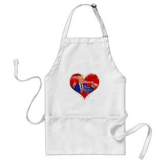 happy valentines day donald trump standard apron