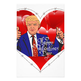 happy valentines day donald trump stationery