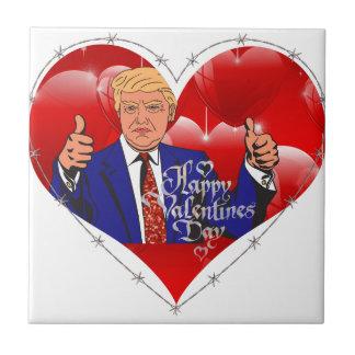 happy valentines day donald trump tile