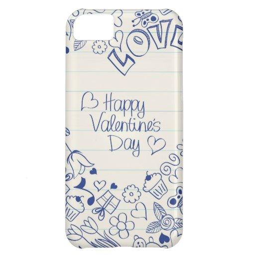 Happy Valentine's Day doodles! Cover For iPhone 5C