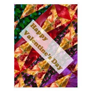 Happy VALENTINE'S DAY : Elegant Golden Script Postcard