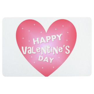 Happy Valentine's day Floor Mat