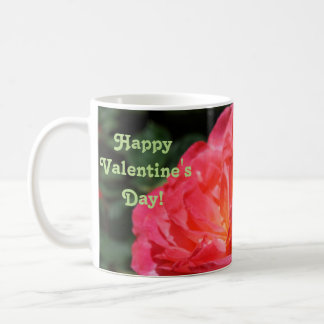 Happy Valentine's Day gifts Mugs Pink Rose Flower