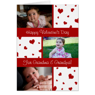 Happy Valentine's Day Grandparents Photo Card