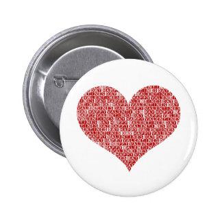 Happy valentine's day heart pin