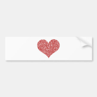 Happy valentine's day heart bumper sticker