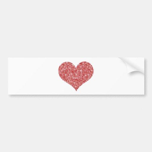 Happy valentine's day heart bumper sticker