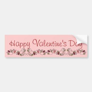 Happy Valentine's Day Heart Garland Bumper Sticker Car Bumper Sticker