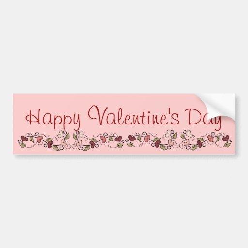 Happy Valentine's Day Heart Garland Bumper Sticker