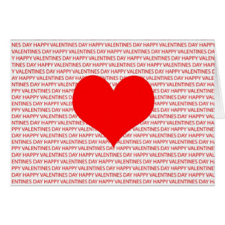 Happy Valentines Day Heart Greeting Card