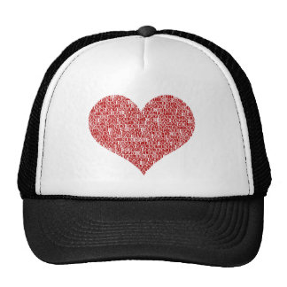 Happy valentine's day heart mesh hats