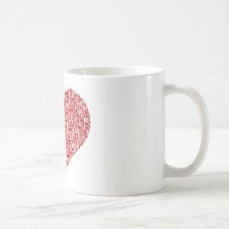 Happy valentine's day heart mugs