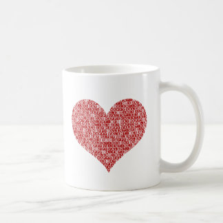 Happy valentine's day heart coffee mugs