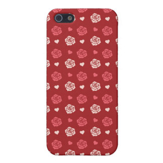 Happy Valentine's Day Hearts and Flowers Red Pink iPhone 5/5S Cases